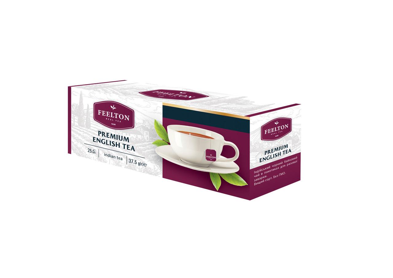 "Чай FEELTON ""Premium English Tea"" чорний ф/п 25*1,5г з/я"