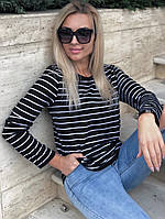 Женская стильная кофта в полоску, фото 1