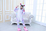 Пижама Единорог звездный разноцветный размер М на рост 155-164  кигуруми kigurumi костюм