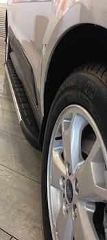 Mazda CX-9 2007-2016 гг. Боковые пороги Duru (2 шт., алюминий)