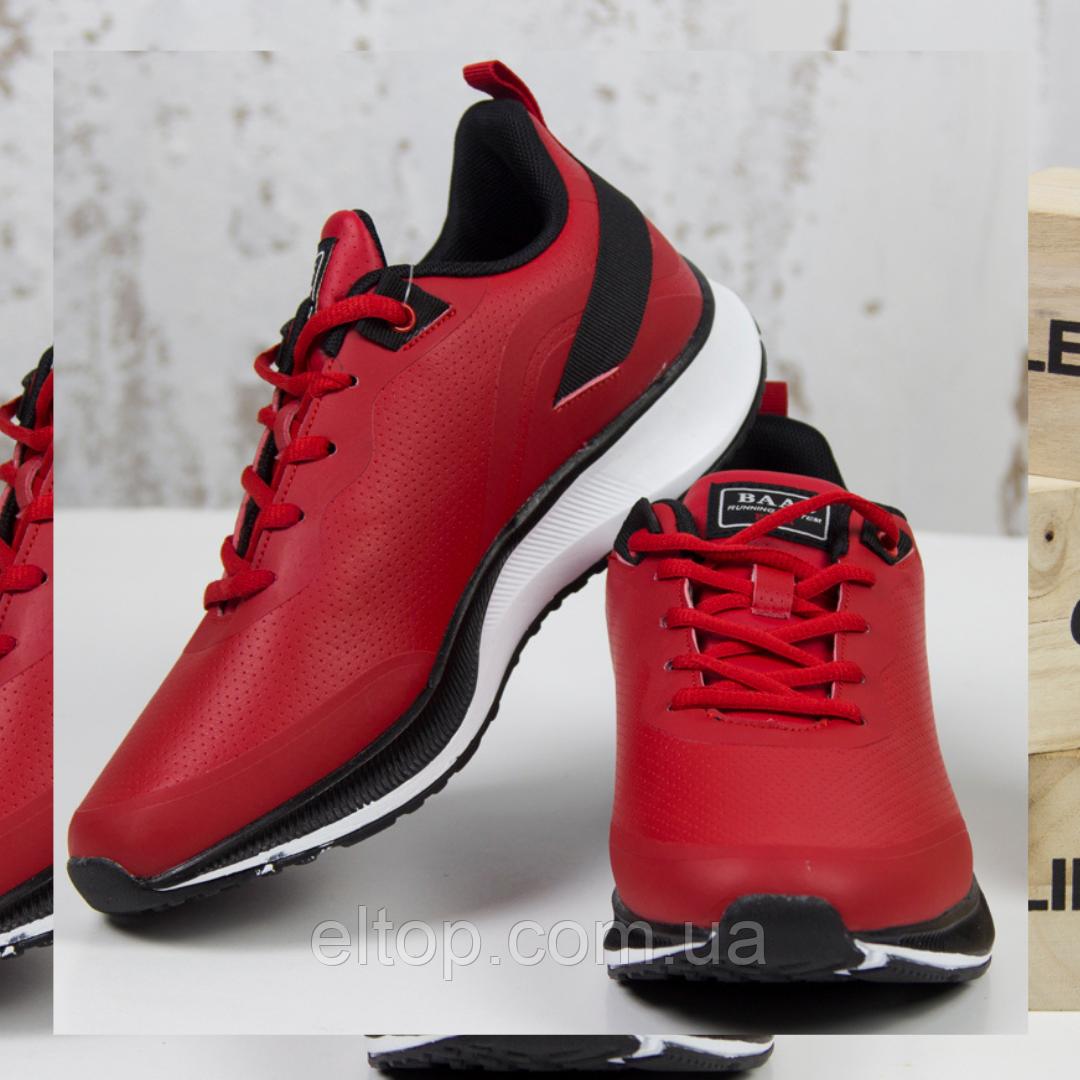 Модные кроссовки мужские повседневные красные BaaS Стильные мужские кроссовки baas Размер 41-46