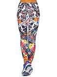 Жіночий спортивні лосини для йоги та фітнесу Domino білі з принтом розмір, фото 3