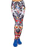 Жіночий спортивні лосини для йоги та фітнесу Domino білі з принтом розмір, фото 4