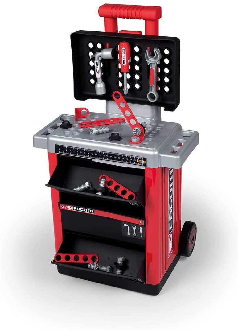 Детский набор инструментов Smoby Смоби Факом передвижная мастерская Facom 360218