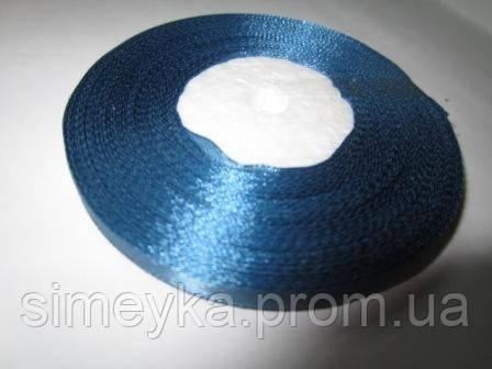 Лента атлас 0,5 см джинсовый синий. Заказ от 5 м