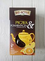 Чай черный с айвой и апельсином Big-Active 80гр (Польша), фото 1