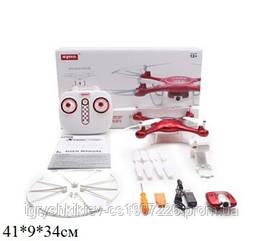 Р.У.Квадрокоптер Syma X5UW с барометром,камерой.WiFi.FPV.вращ.на 360гр.USB.кор./12/