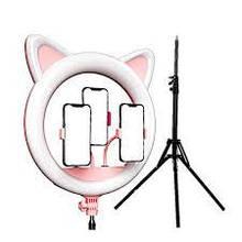 Кільцева світлодіодна лампа з котячими вушками Ring Light RK-45 зі штативом!!!