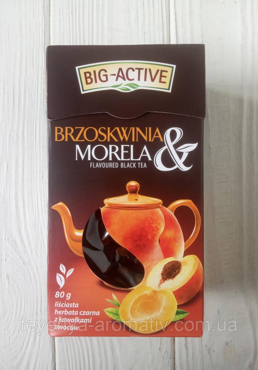 Чай черный Big-Active персик и абрикос 80г (Польша)
