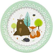 1502-3897 Тарелка бум Лесные Друзья 23см 6шт