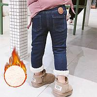 Теплые джинсы на травке, размеры 110 (маломерят)