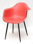 Крісло пластикове Leon Metal BK Onder Mebli, колір червоний 05