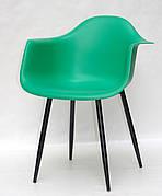 Крісло пластикове Leon Metal BK Onder Mebli, зелений 47