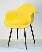 Крісло пластикове Leon Metal BK Onder Mebli, жовтий 12