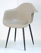 Крісло пластикове Leon Metal BK Onder Mebli, бежевий 06