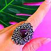Серебряное кольцо с улекситом - Крупное женское серебряное кольцо, фото 5