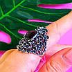 Серебряное кольцо с улекситом - Крупное женское серебряное кольцо, фото 6