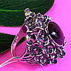 Серебряное кольцо с улекситом - Крупное женское серебряное кольцо, фото 2
