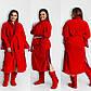 """Шикарный женский махровый комплект халат + сапожки до больших размеров 106-1 """"Кружево Жемчуг"""" в расцветках, фото 7"""