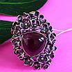 Серебряное кольцо с улекситом - Крупное женское серебряное кольцо, фото 4