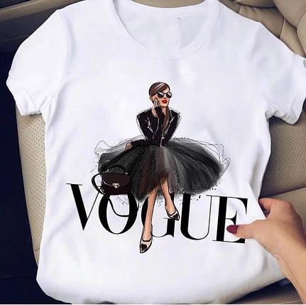 Белая футболка с крутыми принтами брендов, фото 2
