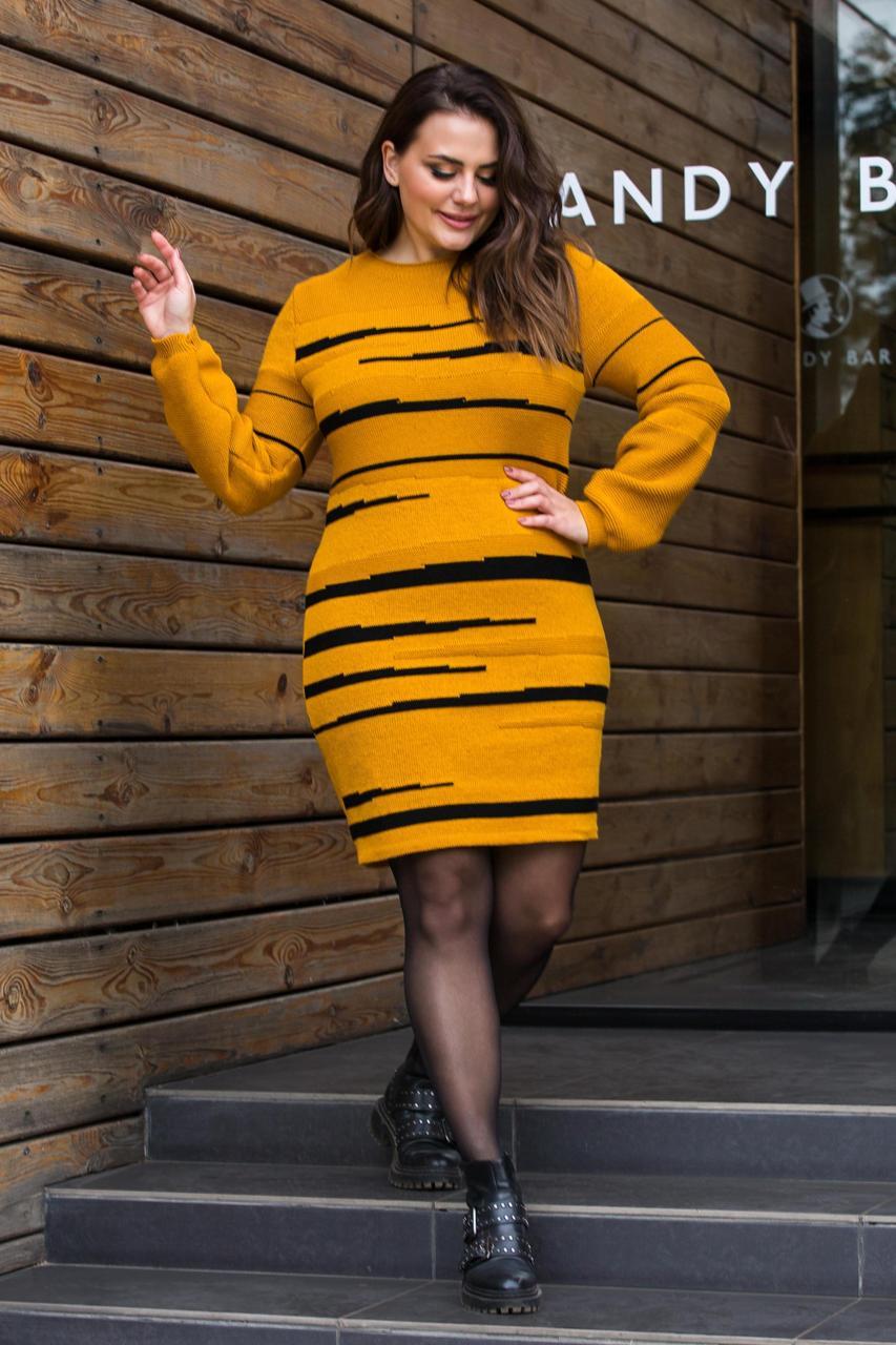 Яркое теплое платье -новинка (5 цветов)