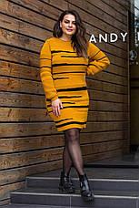 Яркое теплое платье -новинка (5 цветов), фото 2