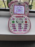 Детский мини телефон, телефон раскладушка Hello Kitty K688, цвет розовый, фото 2