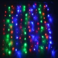 Гирлянда Icicle (бахрома) All Flicker (Полное мерцание) 90 LED 2.0х0.5м