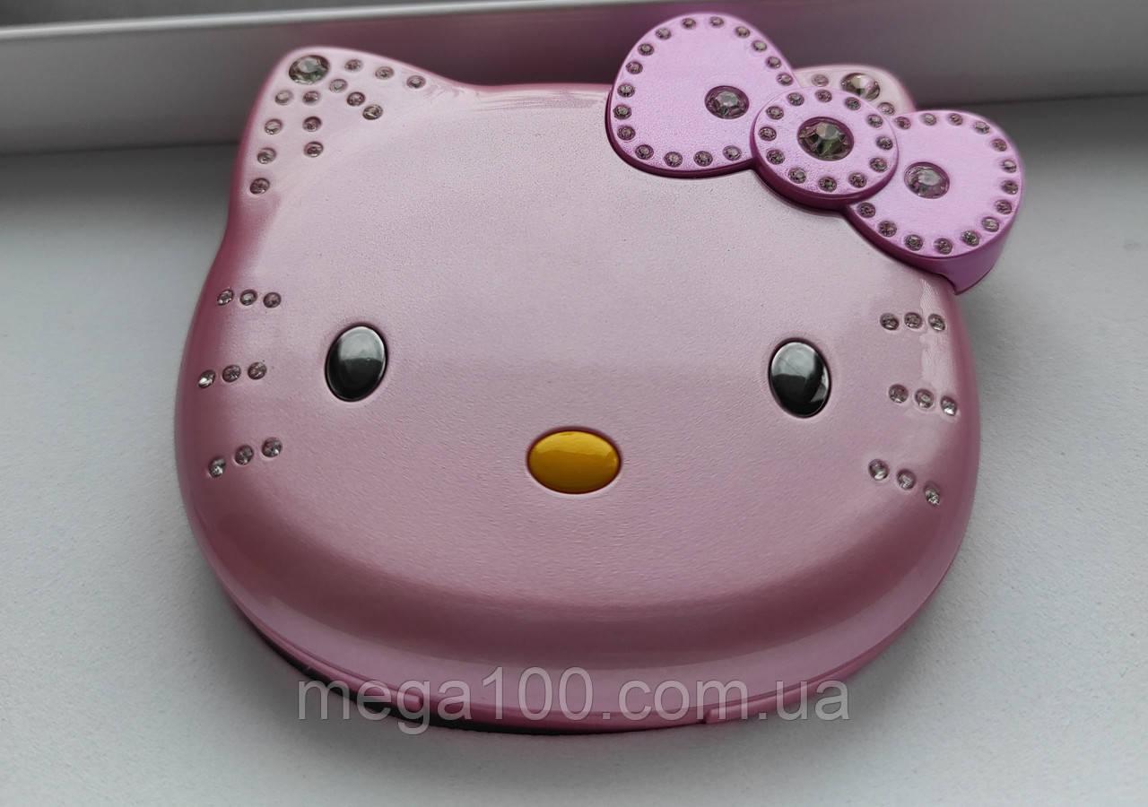 Детский мини телефон, телефон раскладушка Hello Kitty K688, цвет розовый