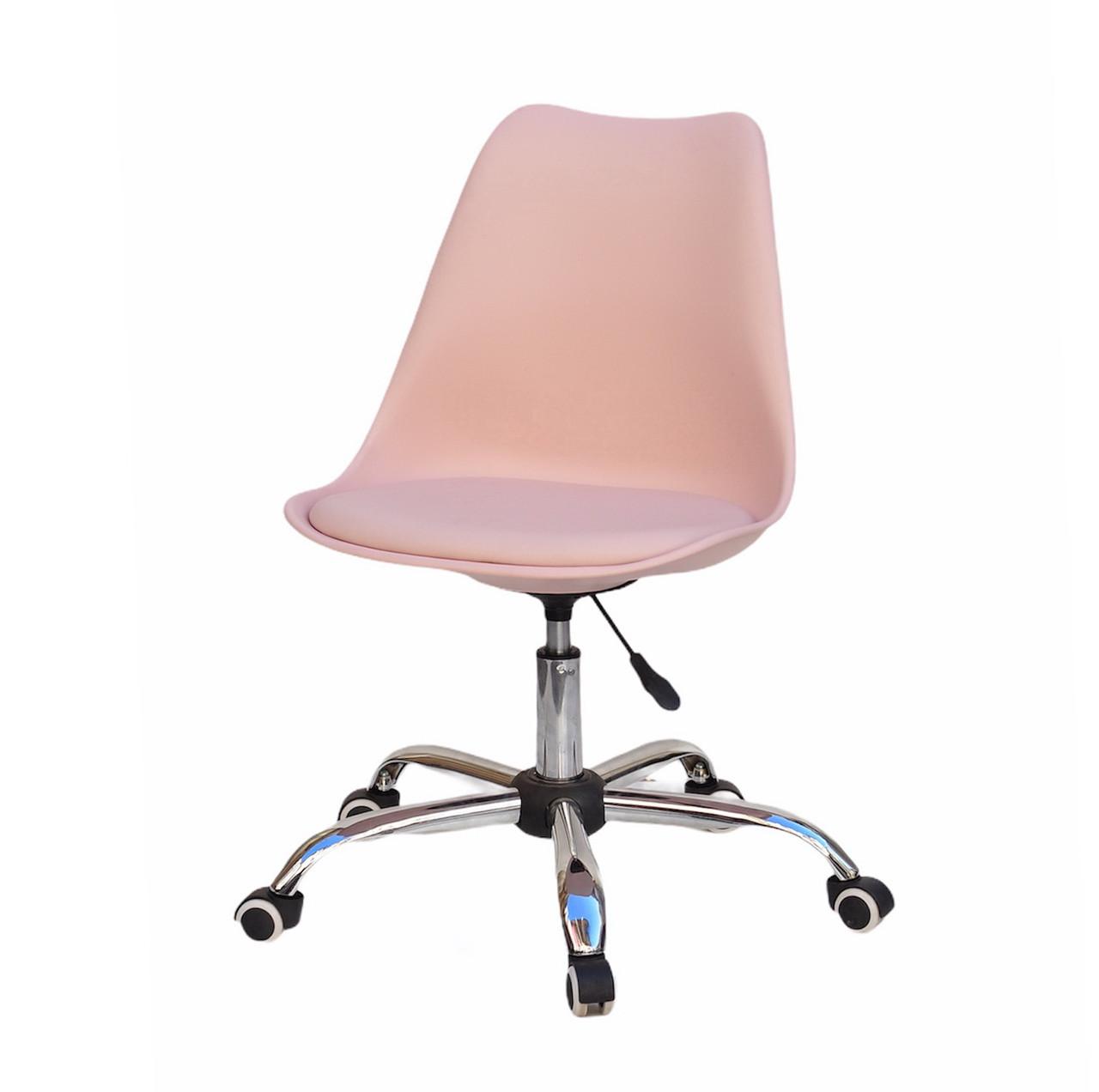 Офисный пластиковый стул  Milan Office, розовый 63