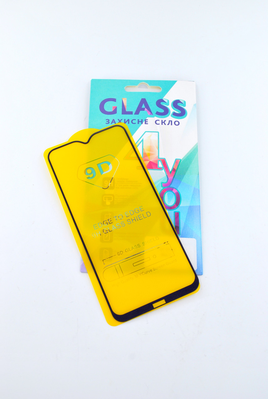 Захисне скло Huawei Y6P (2020) Full Glue 2.5D (0.3mm) Black 4you