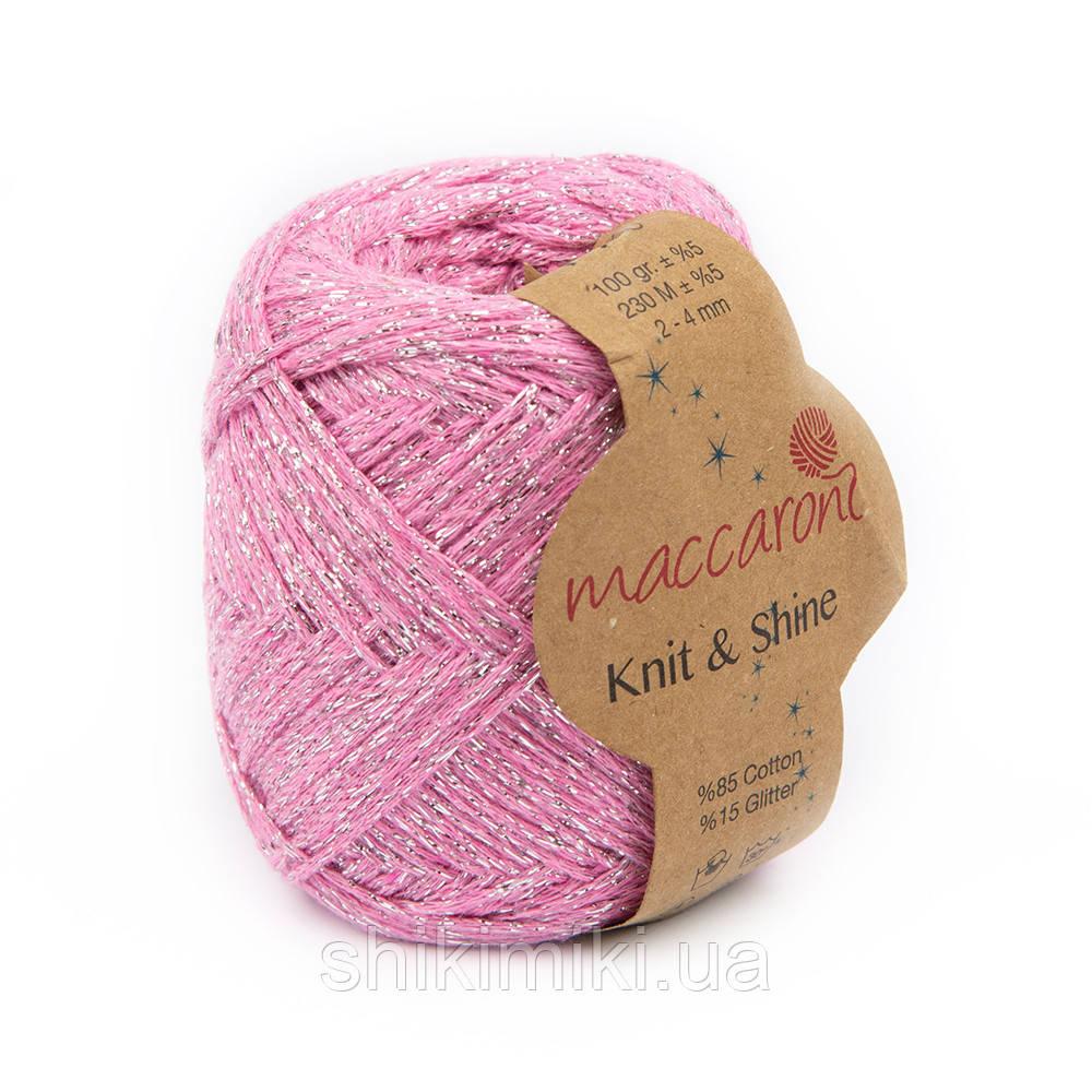 Трикотажный шнур с люрексом Knit & Shine, цвет Розовый фламинго