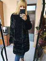 Норкова шуба чорного кольору, розмір 46
