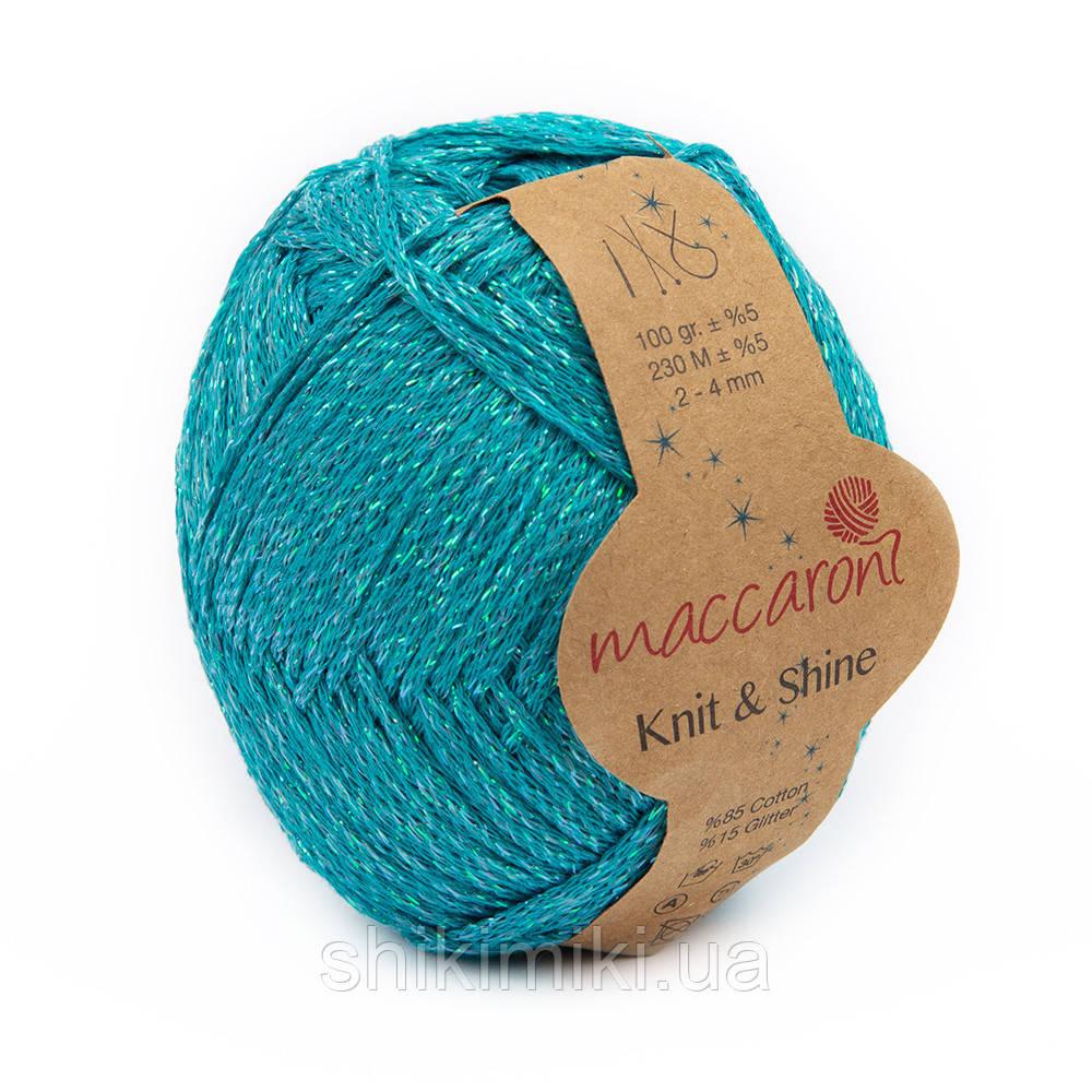 Трикотажный шнур с люрексом Knit & Shine, цвет Голубая лагуна