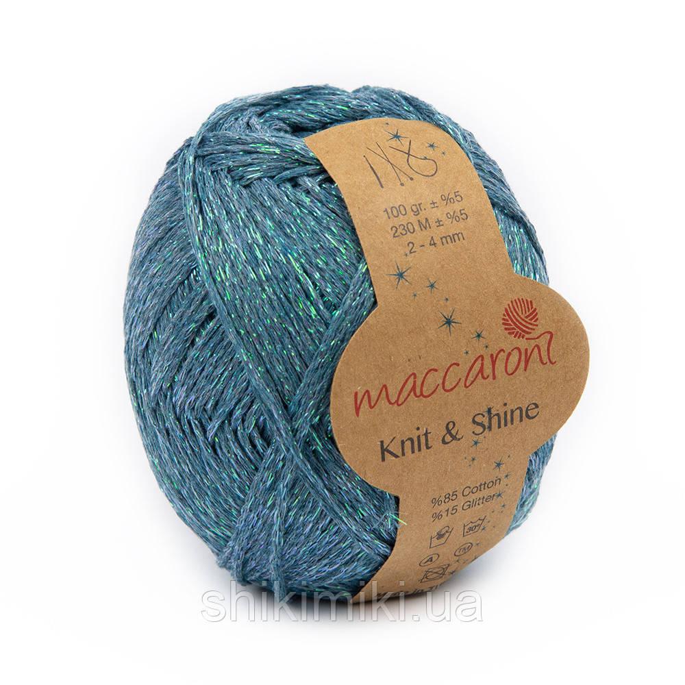 Трикотажный шнур с люрексом Knit & Shine, цвет Бирюзовый