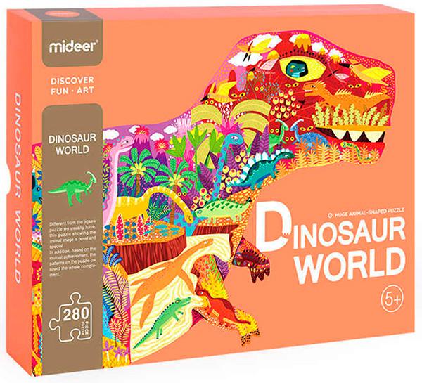 Фигурный пазл гигант динозавр Mideer 280 элементов
