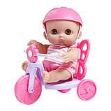 Пупc JC Toys Мими на велосипеде 22 см, фото 2