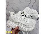 Зимние кроссовки на высокой платформе белые К2323, фото 3