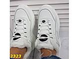Зимние кроссовки на высокой платформе белые К2323, фото 9