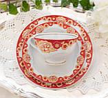 Винтажное чайное трио, чашка, блюдце, тарелка, Германия, Heinrich Baensch, фарфор, фото 2