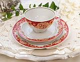 Винтажное чайное трио, чашка, блюдце, тарелка, Германия, Heinrich Baensch, фарфор, фото 3