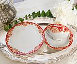 Винтажное чайное трио, чашка, блюдце, тарелка, Германия, Heinrich Baensch, фарфор, фото 4