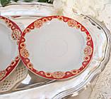 Винтажное чайное трио, чашка, блюдце, тарелка, Германия, Heinrich Baensch, фарфор, фото 7