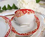 Винтажное чайное трио, чашка, блюдце, тарелка, Германия, Heinrich Baensch, фарфор, фото 6