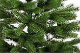 Штучна ялинка лита 2.3 м Буковельська зелена. Ялинка лита зелена. Ялинка новорічна лита, фото 9