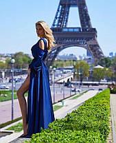 Платье в пол с разрезом и декольте открытые спина и плечи, фото 2