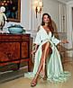 Платье в пол с разрезом и декольте открытые спина и плечи, фото 6