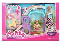 Игровой набор для девочки с куклой.