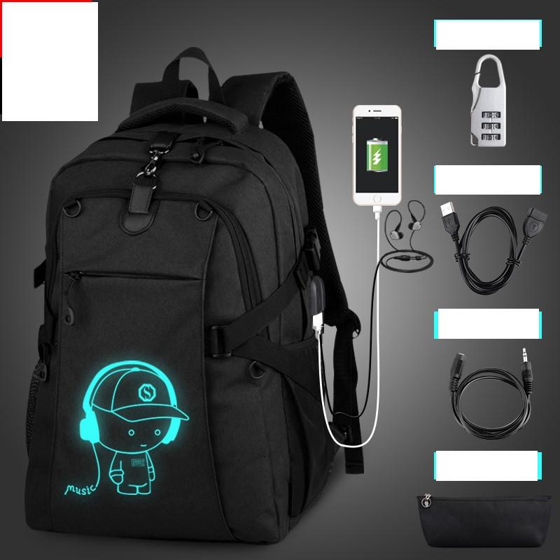 Городской рюкзак Senkey&Style Music с USB светящийся в темноте с скрытым карманом на спине с кодовым замком